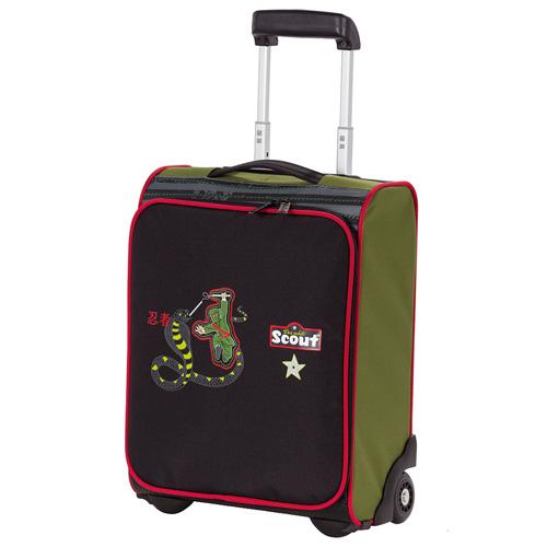 Dětský kufr trolley Scout Ninja a had