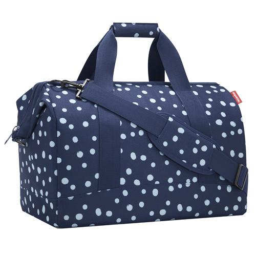 Taška cestovní Reisenthel Allrounder L modrá s bílými puntíky