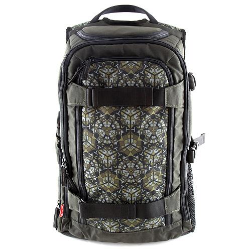 Sportovní batoh Target na fotoaparát XT-03.2 zelené ornamenty