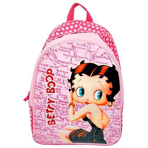 Batoh Betty Boop růžový s puntíky