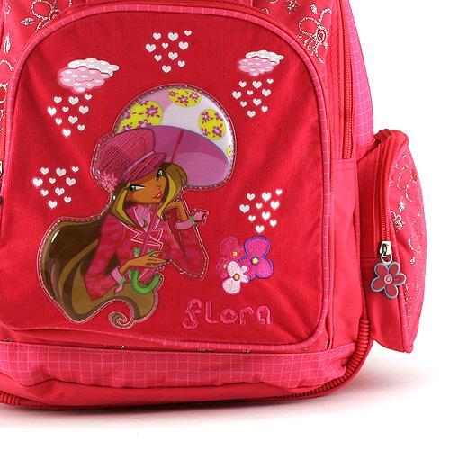 Winx Club Školní batoh 37 × 36 × 13 cm víla Flora s deštníkem #3