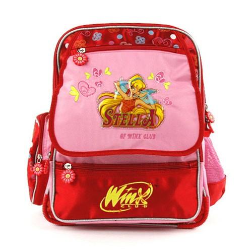 Školní batoh Winx Club víla Stella červeno-růžový