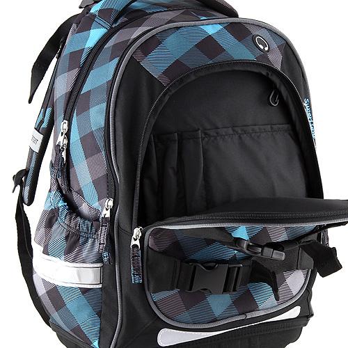 Školní batoh Target Modré kostky