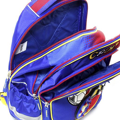 Školní batoh Goal modro červený