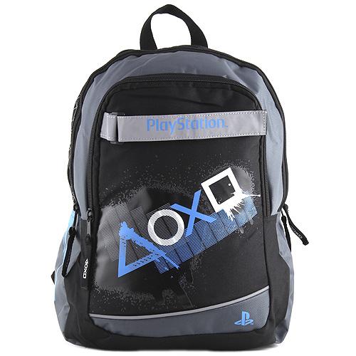 Target batoh PlayStation bílé a modré symboly