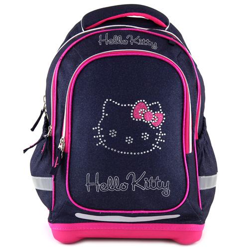 Školní batoh Hello Kitty tmavě modrý jeans