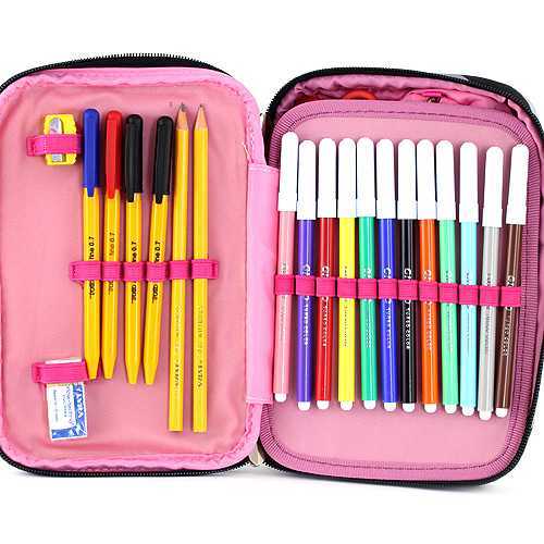 Školní penál s náplní Target XXL fialové kostky