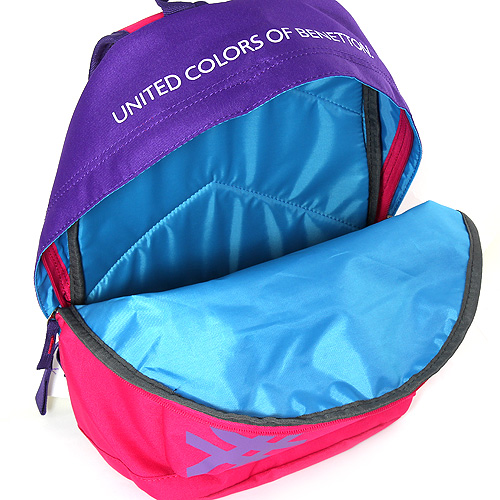 Batoh Benetton růžovo/fialový