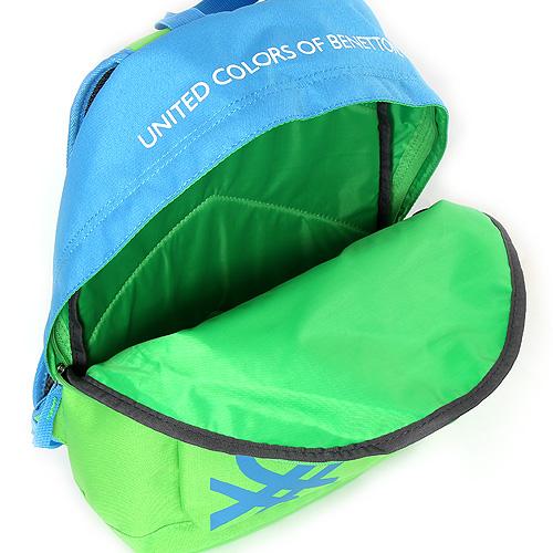 Batoh Benetton zeleno/modrý