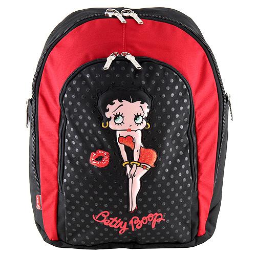 Školní batoh Betty Boop 3D nášivka a rty