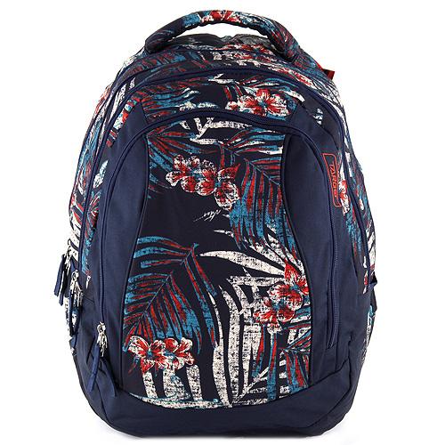 Školní batoh 2v1 Target barevné květy a listy