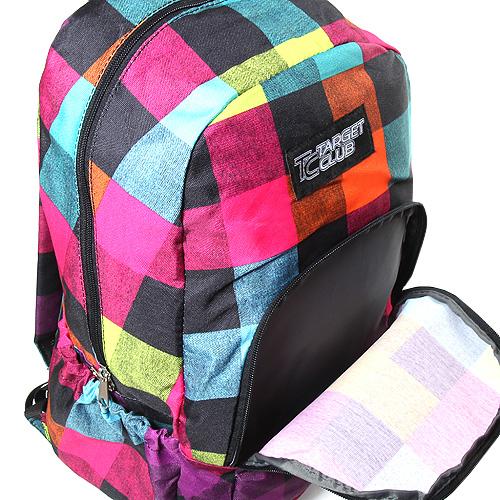 Batoh Target barevné a černé kostky