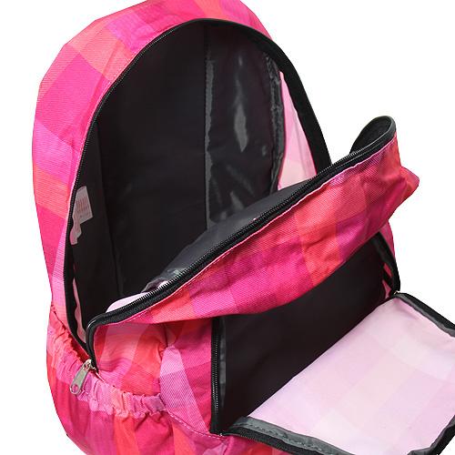 Batoh Target růžový kostkovaný