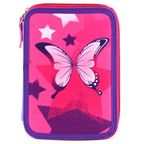 Školní penál dvoupatrový s náplní Target motýlek