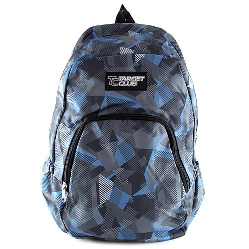 Batoh Target modro-šedé tvary