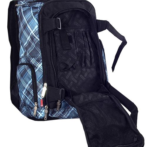 Sportovní batoh Target černý a modré kostky