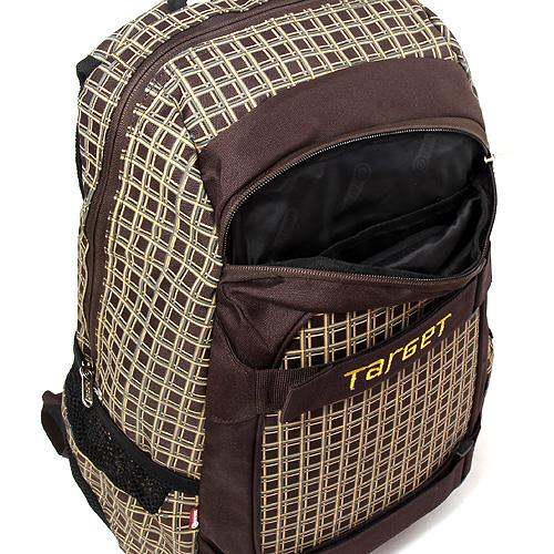 Sportovní batoh Target Fashion hnědo-žluté kostky