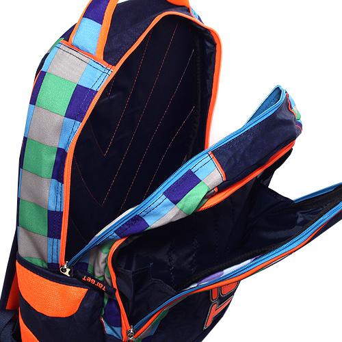 Batoh Target tmavě modrý s oranžovou nášivkou