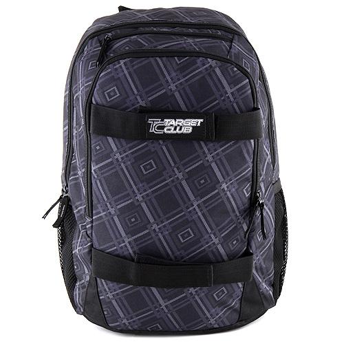 Sportovní batoh Target Club šedé čtverce
