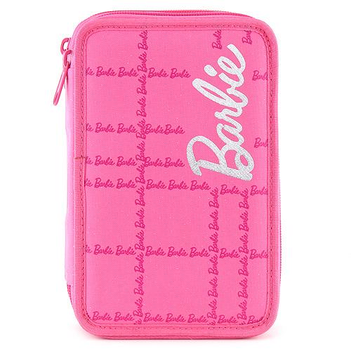 Barbie školní penál s náplní dvoupatrový růžový