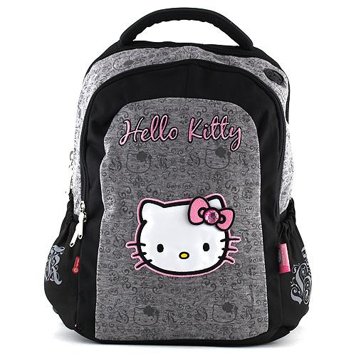 Školní batoh Hello Kitty Cotton šedý 2f38829bbd