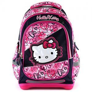 Školní batoh Hello Kitty multi hearts 468cb1558d