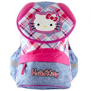 Školní batoh Hello Kitty růžový s modrým jeans 92c8b5f8bb