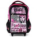 Školní batoh trolley Barbie Newspaper