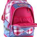 Školní batoh Hello Kitty růžovo-modré kostky