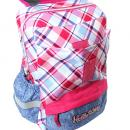Školní batoh Hello Kitty růžový s modrým jeans