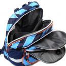 Školní batoh Goal modré proužky 3 kapsy