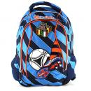 Školní batoh Goal modré proužky