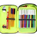 Školní penál s náplní Target XXL zelené kostky