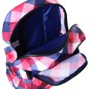 Batoh Target růžové/modré kostky